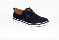 Стилни мъжки обувки - 6003 - тъмно сини