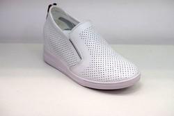 Дамски обувки на платформа ЕСТЕСТВЕНА КОЖА - 0901 - бели