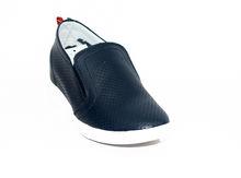 Дамски обувки на платформа - 0901 - тъмно сини
