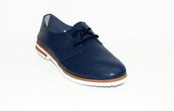 Дамски обувки ЕСТЕСТВЕНА КОЖА - 6603 - тъмно сини