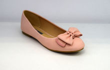 Дамски пантофки - 0096 - розови с панделка