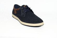 Мъжки обувки с връзки - 6006 - тъмно сини