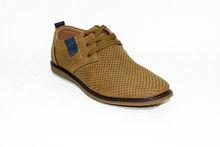 Мъжки обувки с връзки - 6006 - бежови