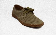 Мъжки обувки с връзки - 6007 - тъмно бежови
