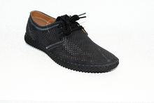 Мъжки обувки с връзки - 6007 - черни