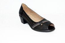 Дамски обувки на нисък ток - 0097 - черни
