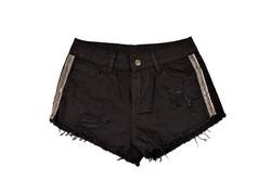 Дамски къси панталонки - 8804 - черни