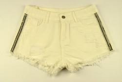 Къси дамски панталонки - 8804 - бели