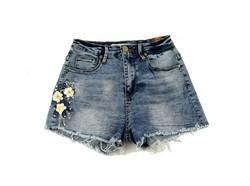 Дамски къси дънкови панталонки - 8805 - сини