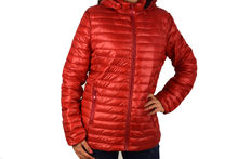Дамско пролетно - есенно яке в макси размери - 1532 - червено