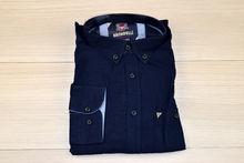 Мъжка ленена риза с дълъг ръкав - BIRINDELLI 05 - тъмно синя