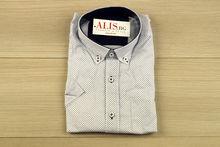 Мъжка риза с къс ръкав - BIRINDELLI 10 - бяла с тъмно сини акценти