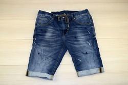 Мъжки къси дънки - GRESS 01 - тъмно сини от 30 до 38 размер