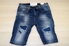 Къси мъжки дънки - LEOX 01 - тъмно сини до 38 размер
