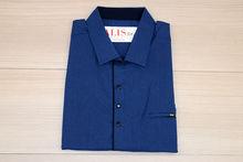 Мъжка риза с къс ръкав - NOSEDA 01 до 6XL - тъмно синя