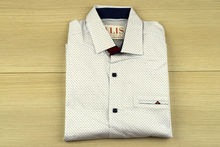 Мъжка риза с къс ръкав - SAMEN - бяла
