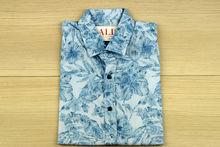 Мъжка риза с къс ръкав -  NOSEDA 08 - синя
