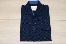 Мъжка риза с къс ръкав - NOSEDA 10 -  тъмно синя