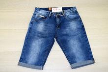 Къси мъжки дънки - M.SARA - сини размер от 30 до 38