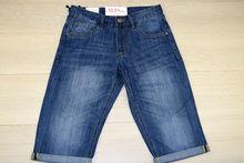 Къси мъжки класически дънки - VIMAN - сини размер от 30 до 42