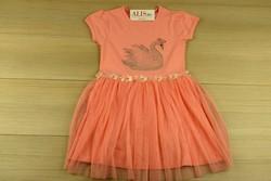 Детска рокля лебед с тюлени воали - розова от 4 до 8 г.