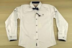 Риза за момчета от 3 до 11 годишни - бяла