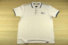 Мъжка тениска с яка -REDDOWN- бяла до 5XL