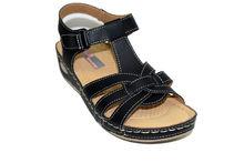 Комфортни дамски сандали - 2832 - черни