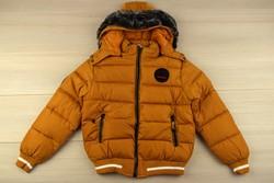 Зимно яке за момчета цвят горчица - 9008 - от 8 до 16 г.
