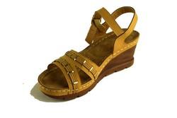 Дамски сандали на платформа - А 2822 - бежови