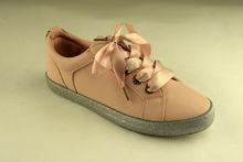 Дамски спортни обувки - А 8024 - цвят пудра с брокат