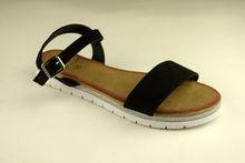 Дамски сандали ниски - А 2841 - черни