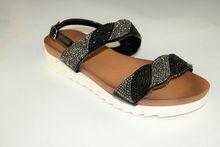 Ниски дамски сандали - А 2840 - черни