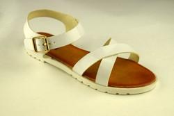 Ежедневни дамски сандали - бели - А 2846 -