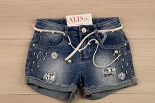 Къси дънкови панталонки за момиче за 10 и 14 г. - сини