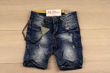 Детски къси дънки за момчета от 4 до 12 г. - тъмно сини