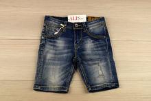 Къси дънкови панталонки за момченца от 4 до 16 г. - тъмно сини