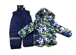 Зимен детски комплект за момчета от 3 до 8 г. - синьо и зелено