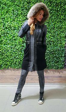 Дамско модно манто код 3111