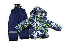 Зимен детски комплект за момчета от 3 до 8г. - синьо и зелено