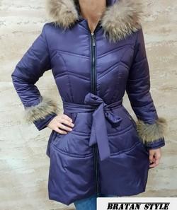 Уникално разкроено дамско яке-код 2115-лилаво!