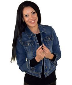 Дънково късо дамско яке- RE DRESS- синьо