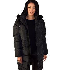 Дълго зимно дамско яке до 5ХЛ - черно