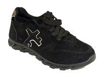 Велурени дамски маратонки - 6012 - черни