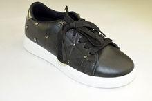 Дамски модни кецове с капси - 6015 - черни