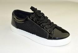 Дамски кецове текстил - 6019 - черни