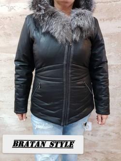 Дамско кожено яке от 2хл до 5хл-код 9112