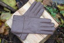 Дамски ръкавици ЕСТЕСТВЕНА КОЖА код 032- кафяви