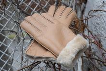 Дамски ръкавици ЕСТЕСТВЕНА КОЖА- код 034-бежови