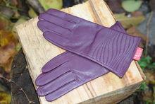 Дамски ръкавици ЕСТЕСТВЕНА КОЖА-код 035-лилави
